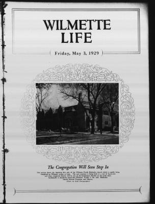 Wilmette Life (Wilmette, Illinois), 3 May 1929
