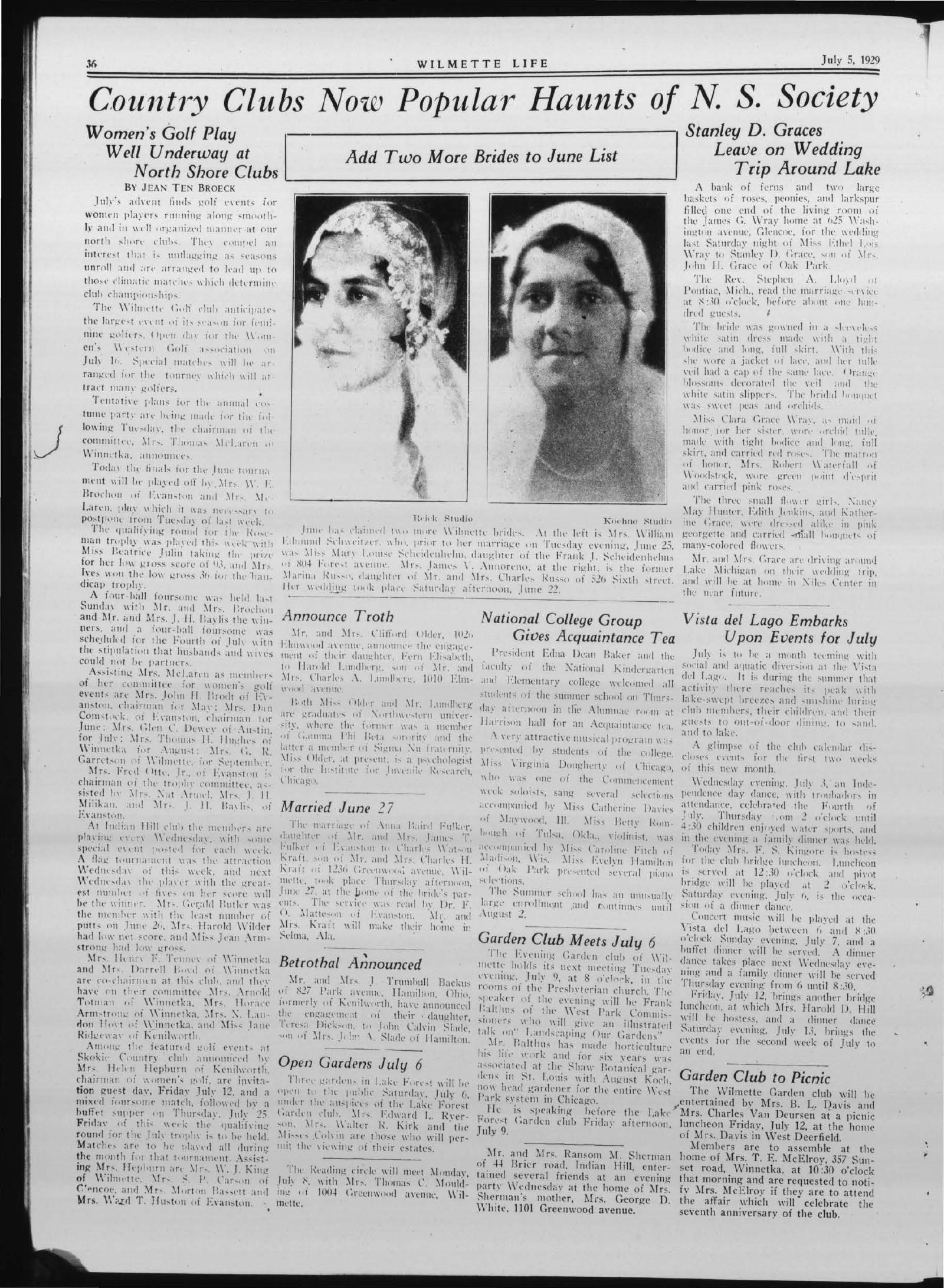 Wilmette Life (Wilmette, Illinois), 5 Jul 1929