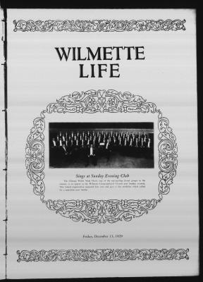Wilmette Life (Wilmette, Illinois), 13 Dec 1929