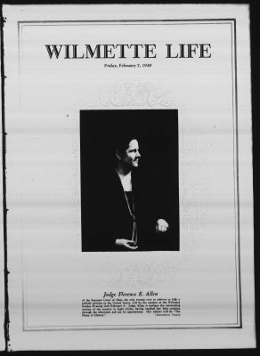 Wilmette Life (Wilmette, Illinois), 7 Feb 1930