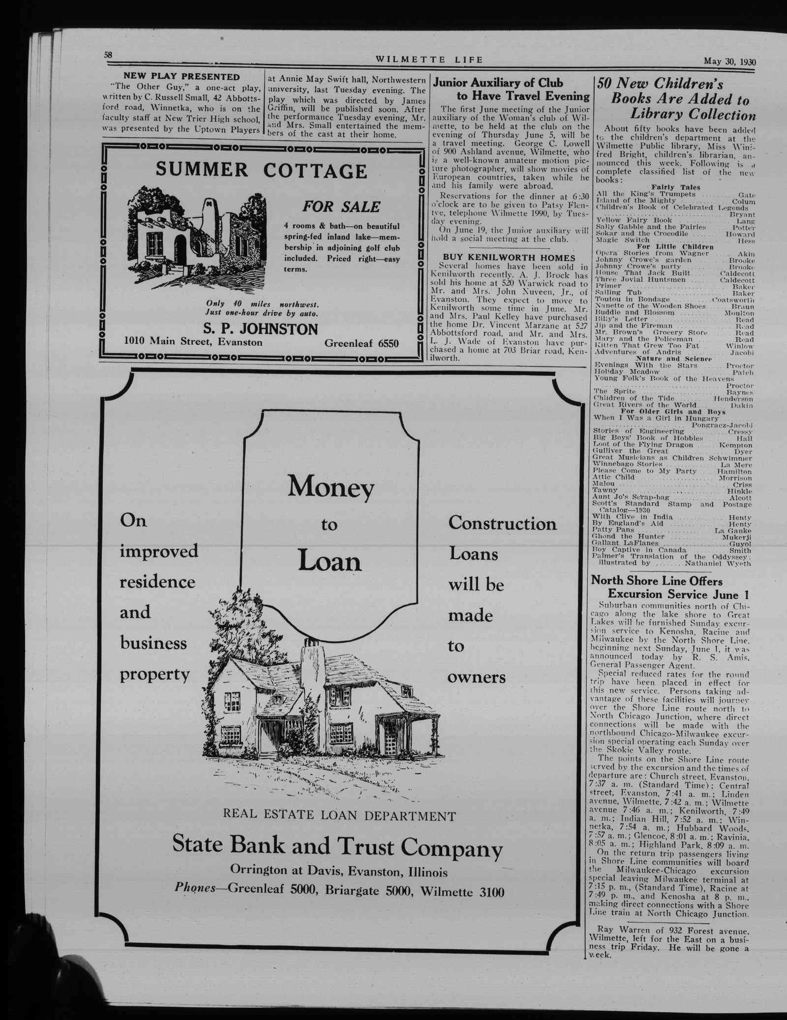Wilmette Life (Wilmette, Illinois), 30 May 1930
