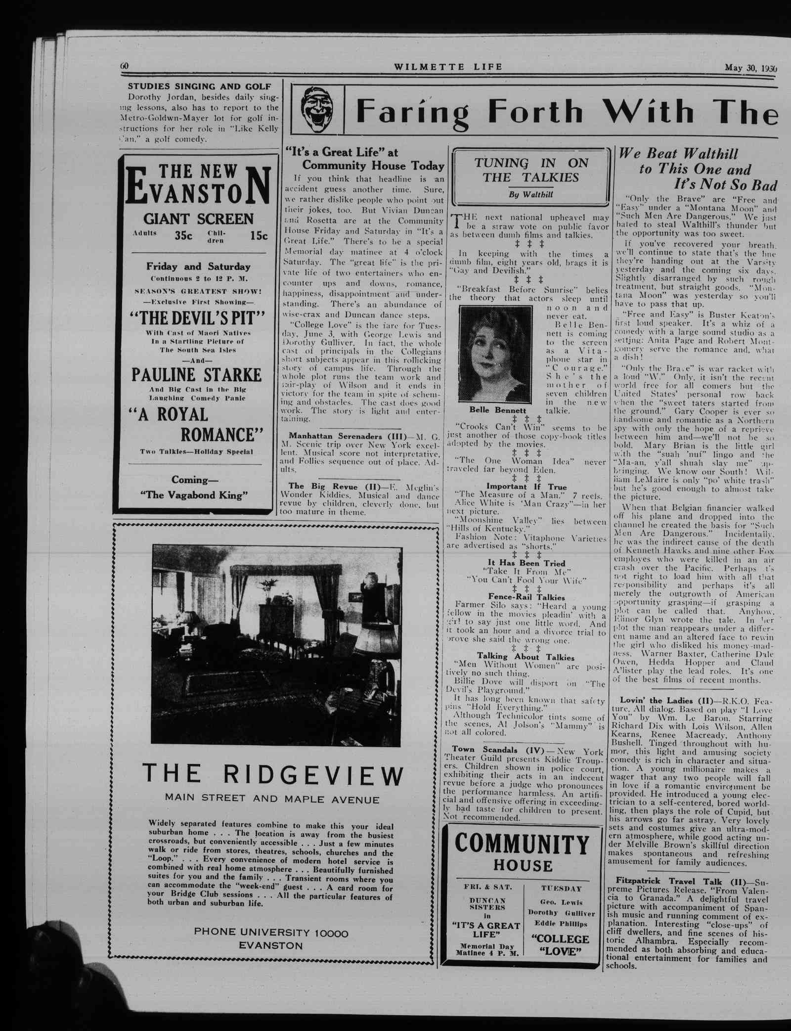 Wilmette Life (Wilmette, Illinois), 30 May 1930