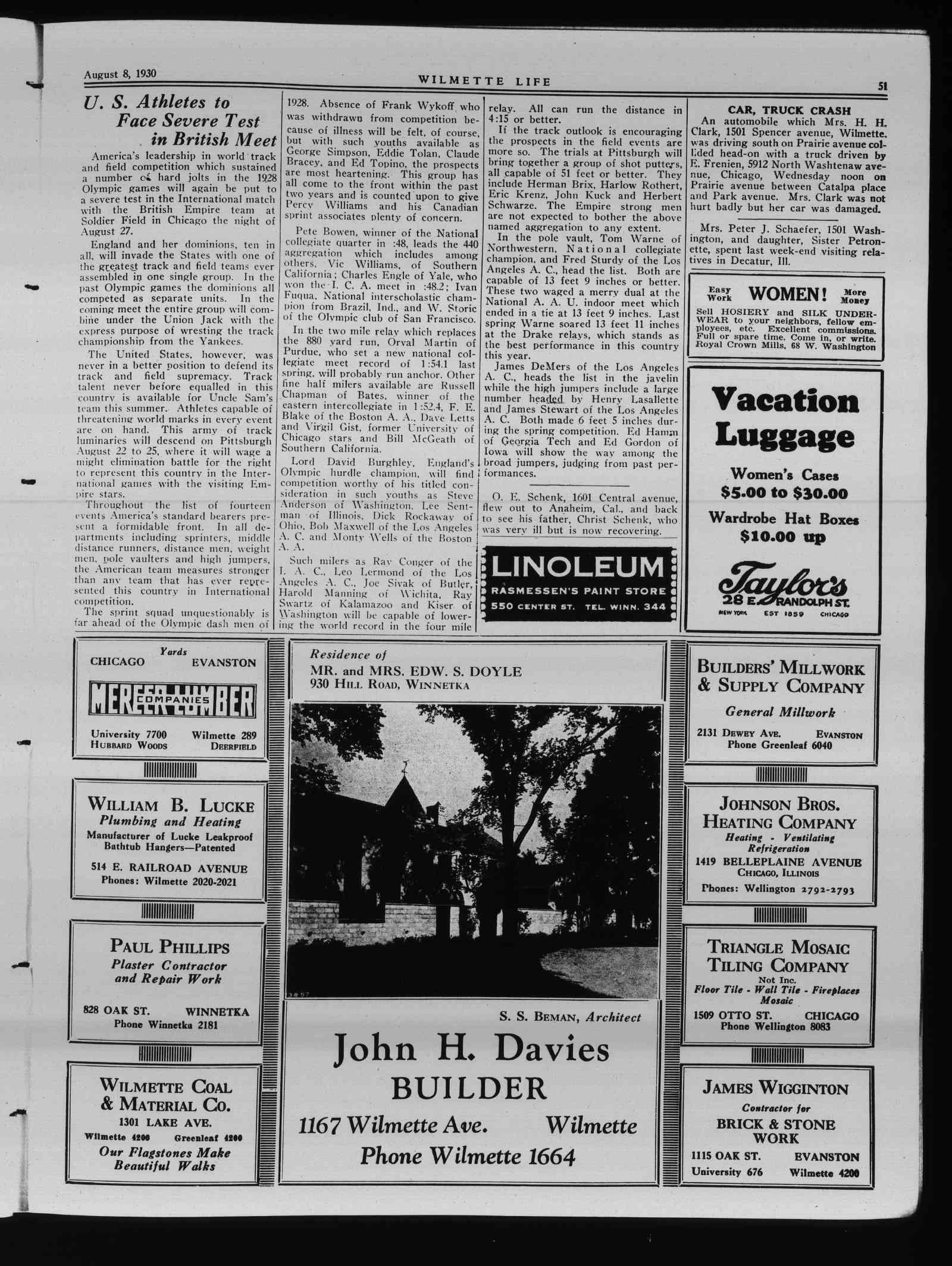 Wilmette Life (Wilmette, Illinois), 8 Aug 1930