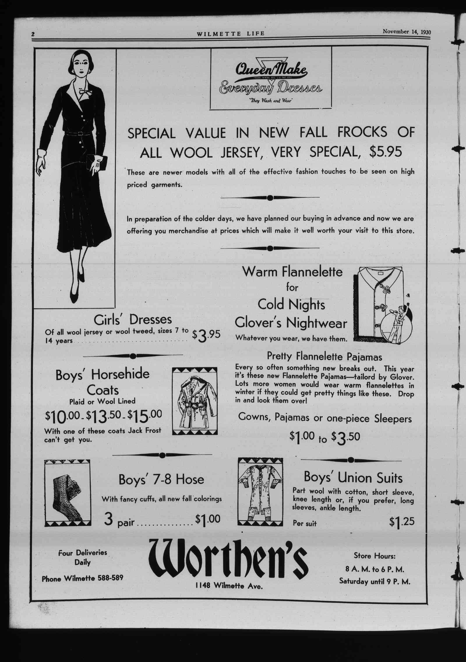 Wilmette Life (Wilmette, Illinois), 14 Nov 1930