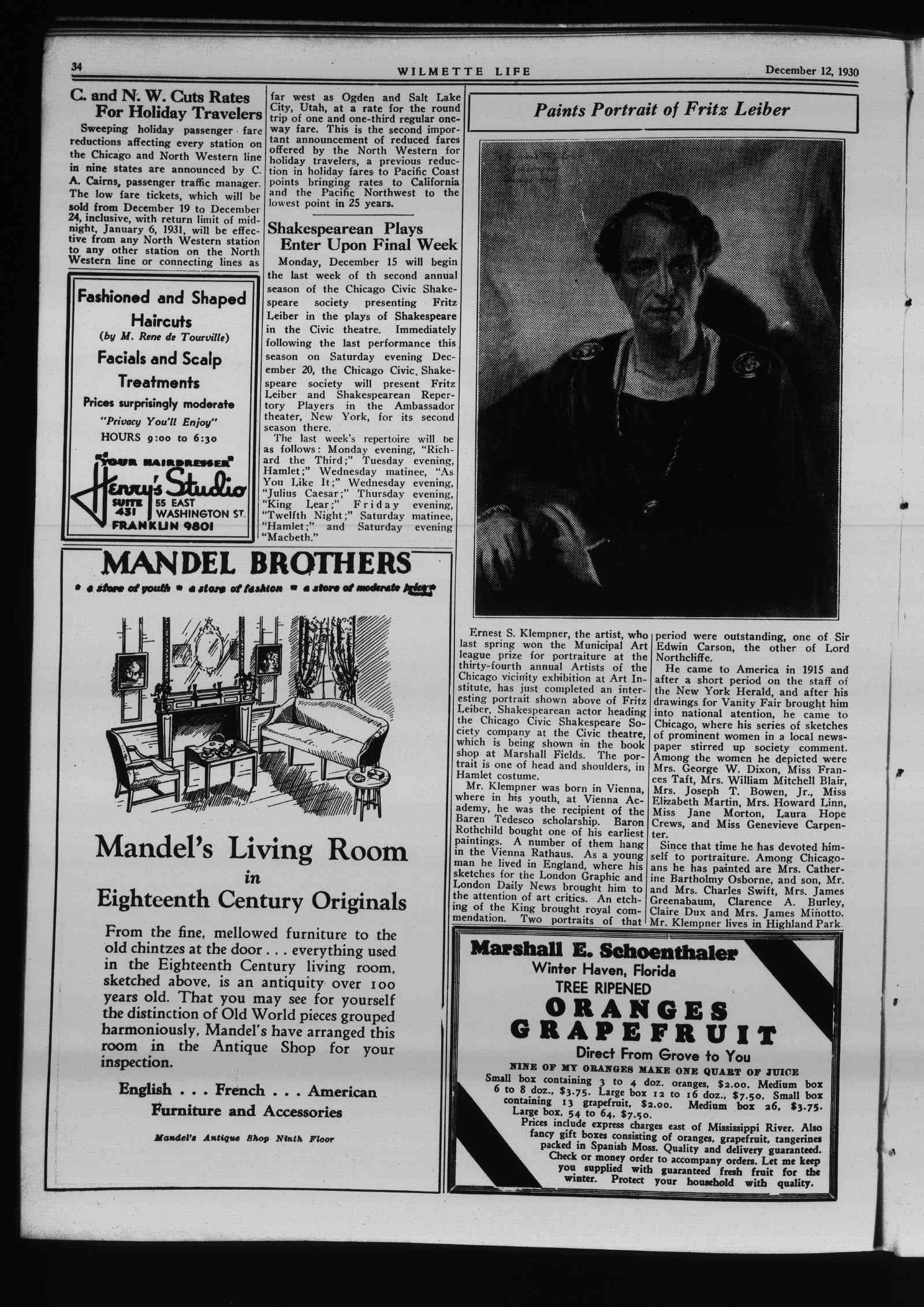 Wilmette Life (Wilmette, Illinois), 12 Dec 1930