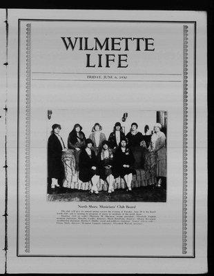Wilmette Life (Wilmette, Illinois), 6 Jun 1930