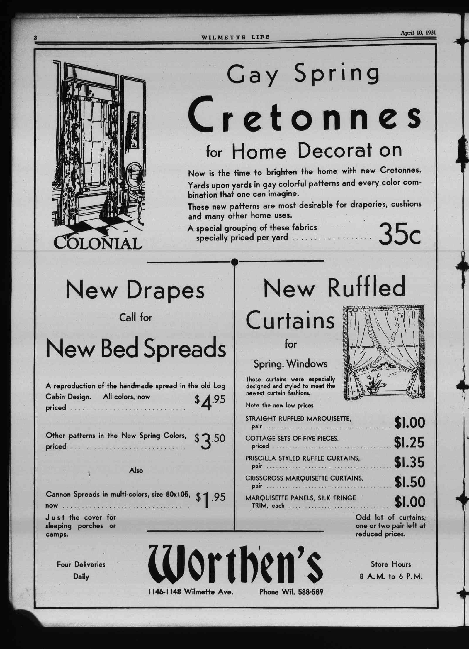Wilmette Life (Wilmette, Illinois), 10 Apr 1931