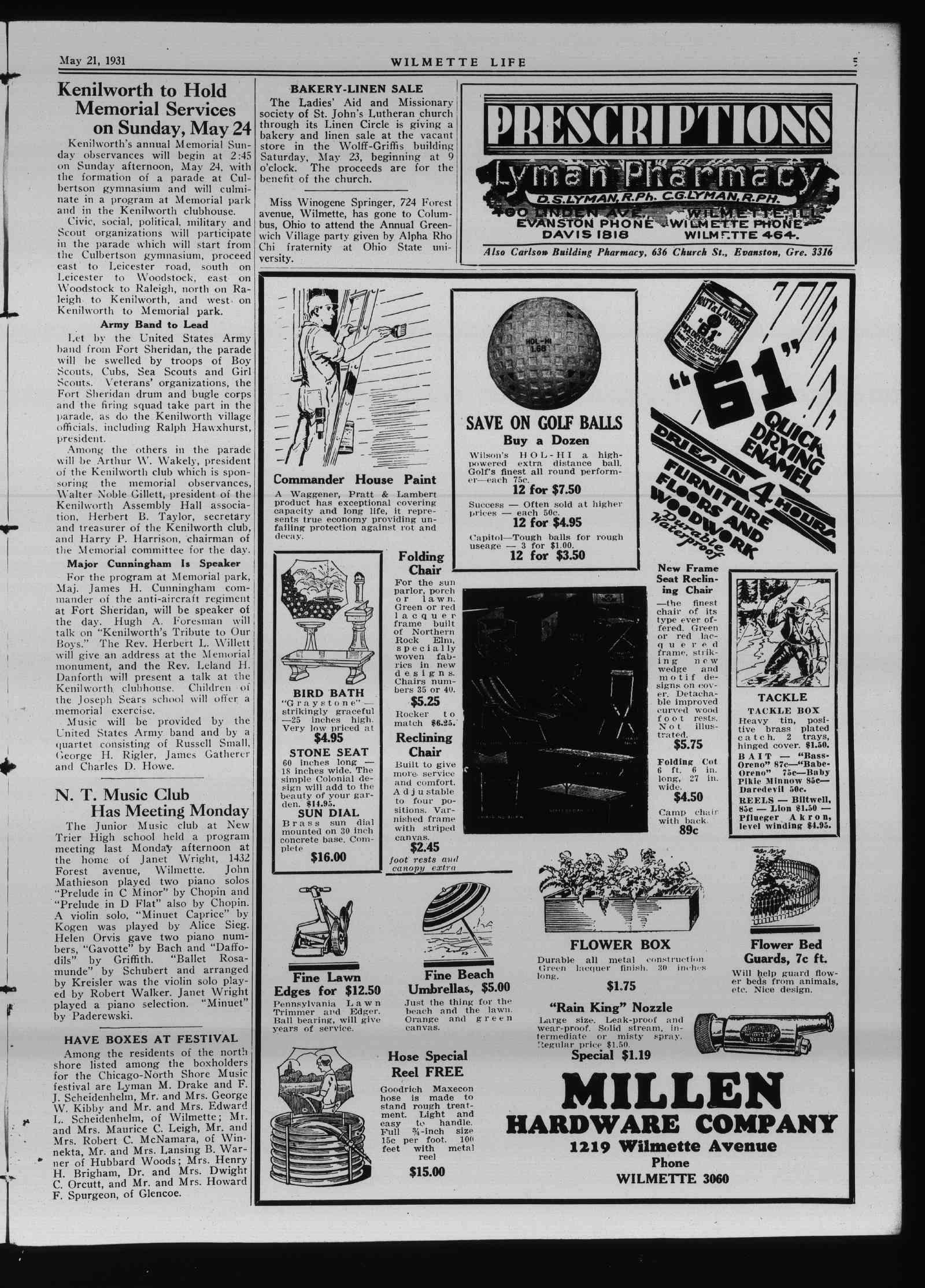 Wilmette Life (Wilmette, Illinois), 21 May 1931