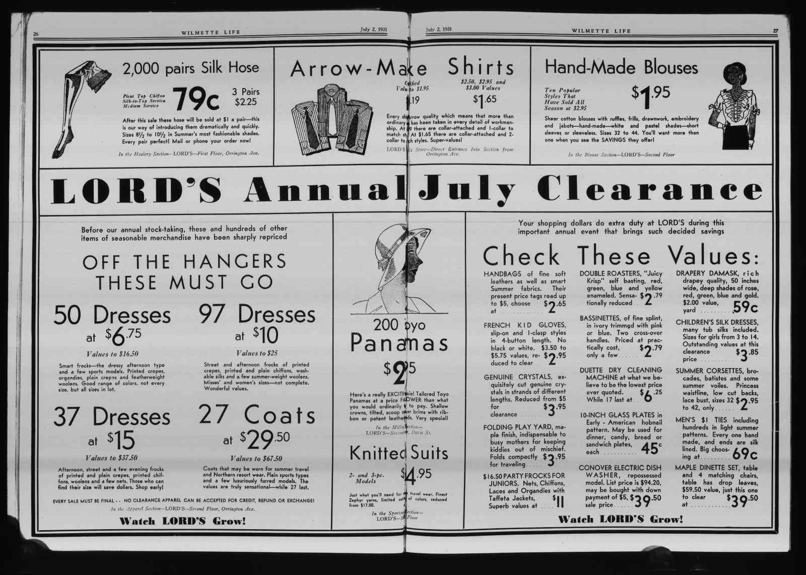 Wilmette Life (Wilmette, Illinois), 2 Jul 1931