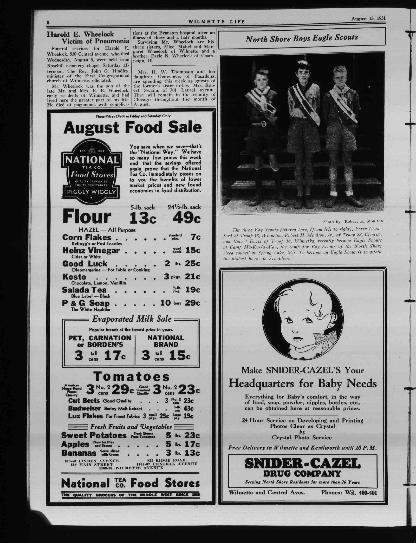 Wilmette Life (Wilmette, Illinois), 13 Aug 1931