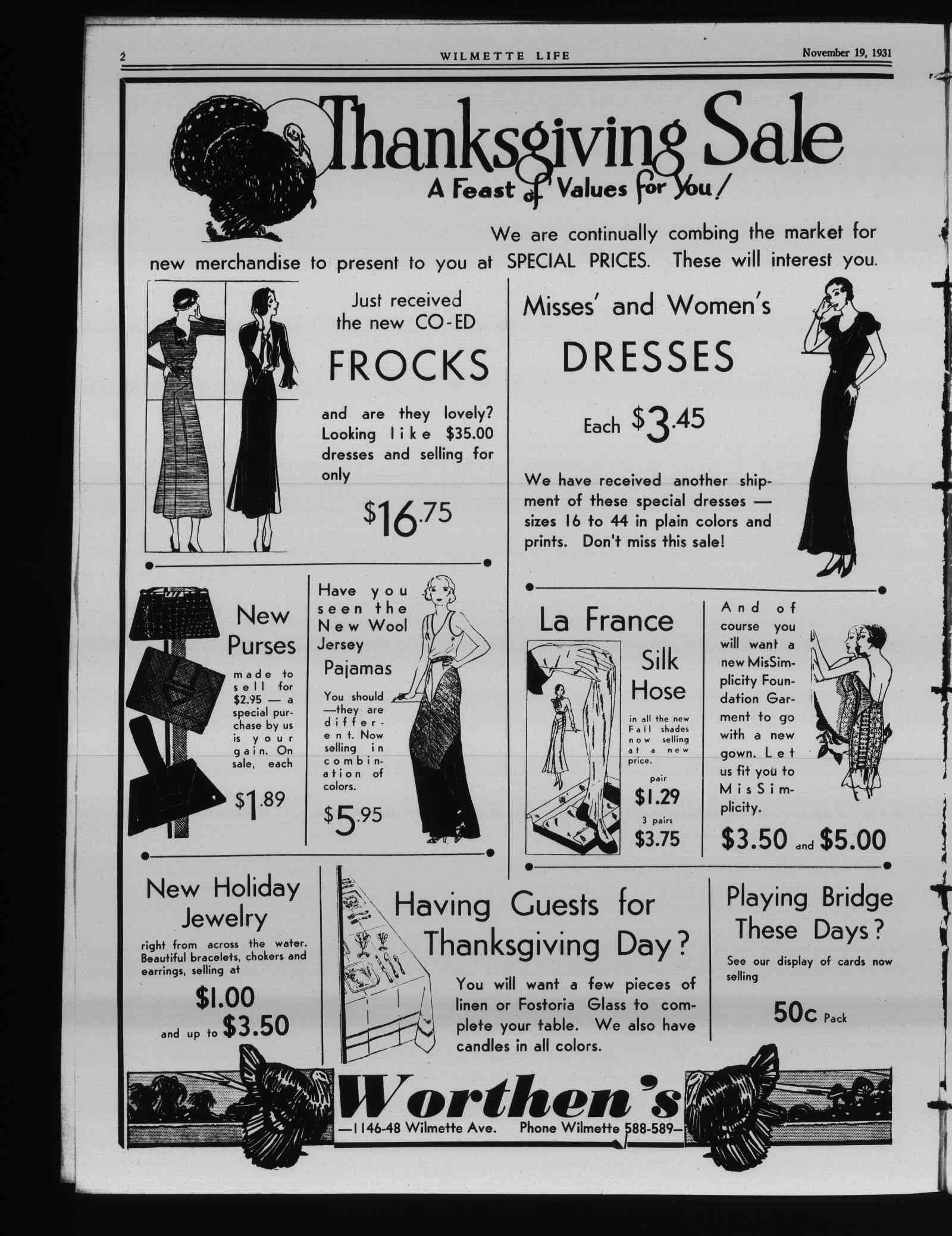 Wilmette Life (Wilmette, Illinois), 19 Nov 1931