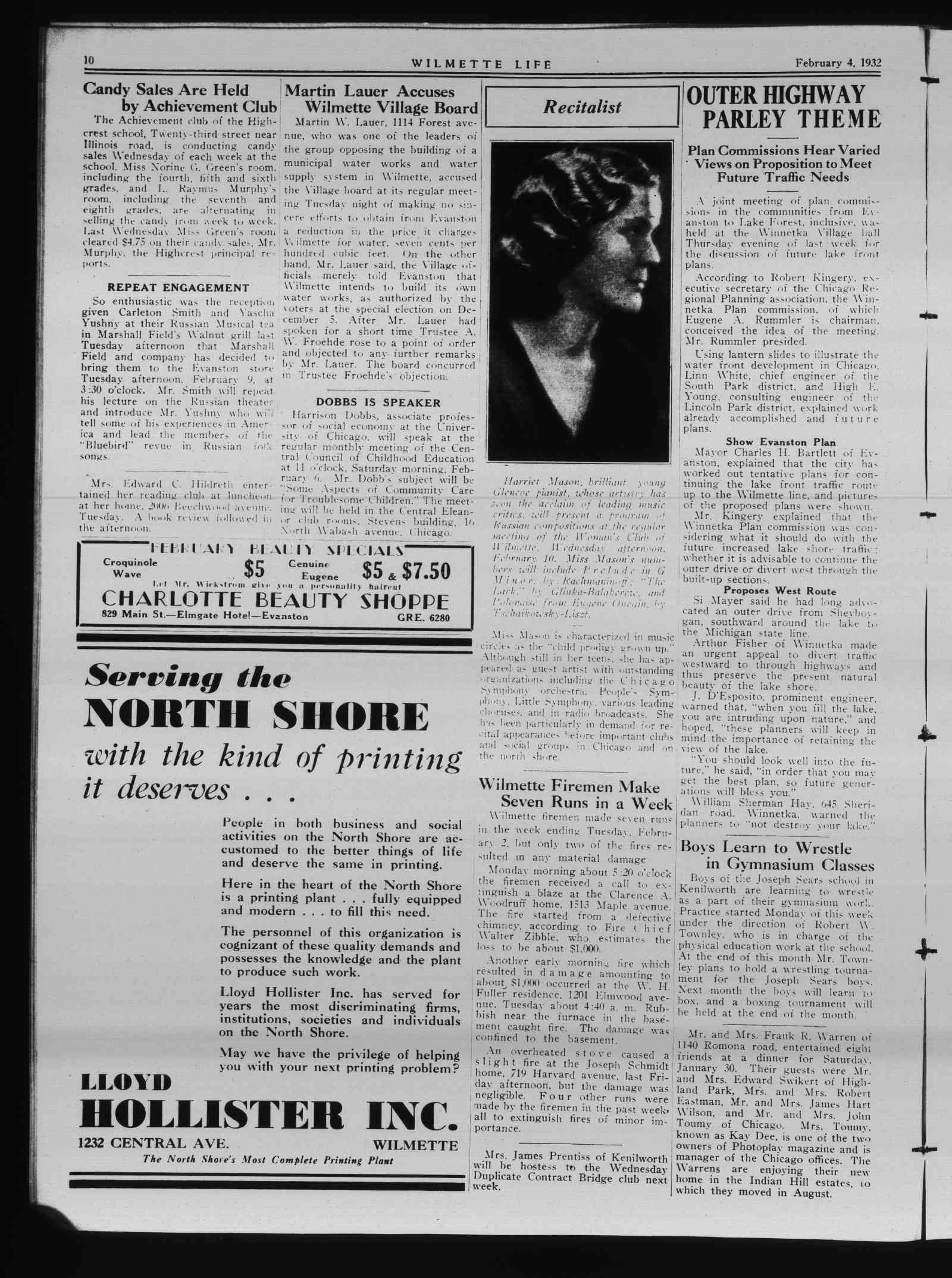 Wilmette Life (Wilmette, Illinois), 4 Feb 1932