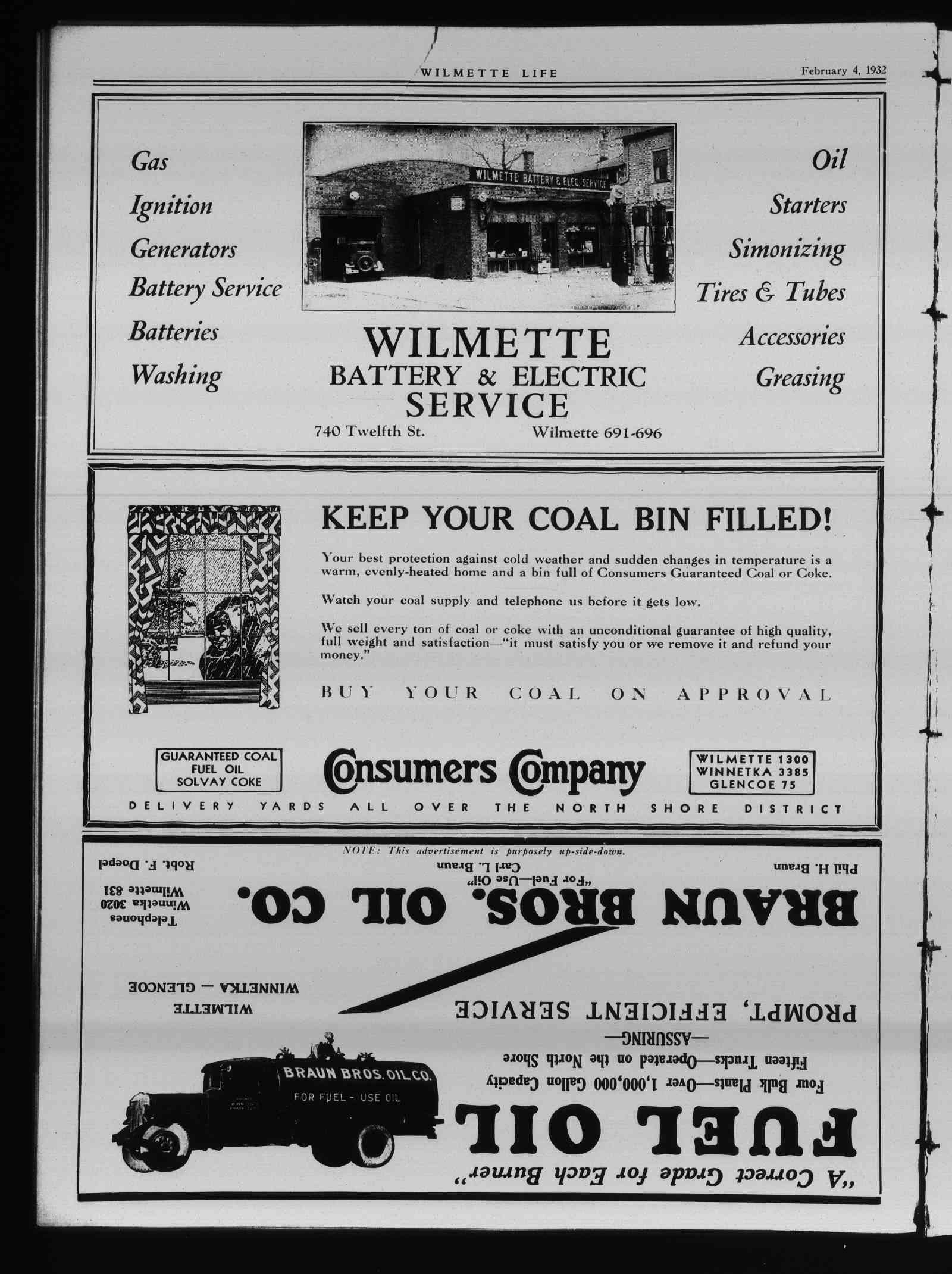 Wilmette Life (Wilmette, Illinois), 4 Feb 1932