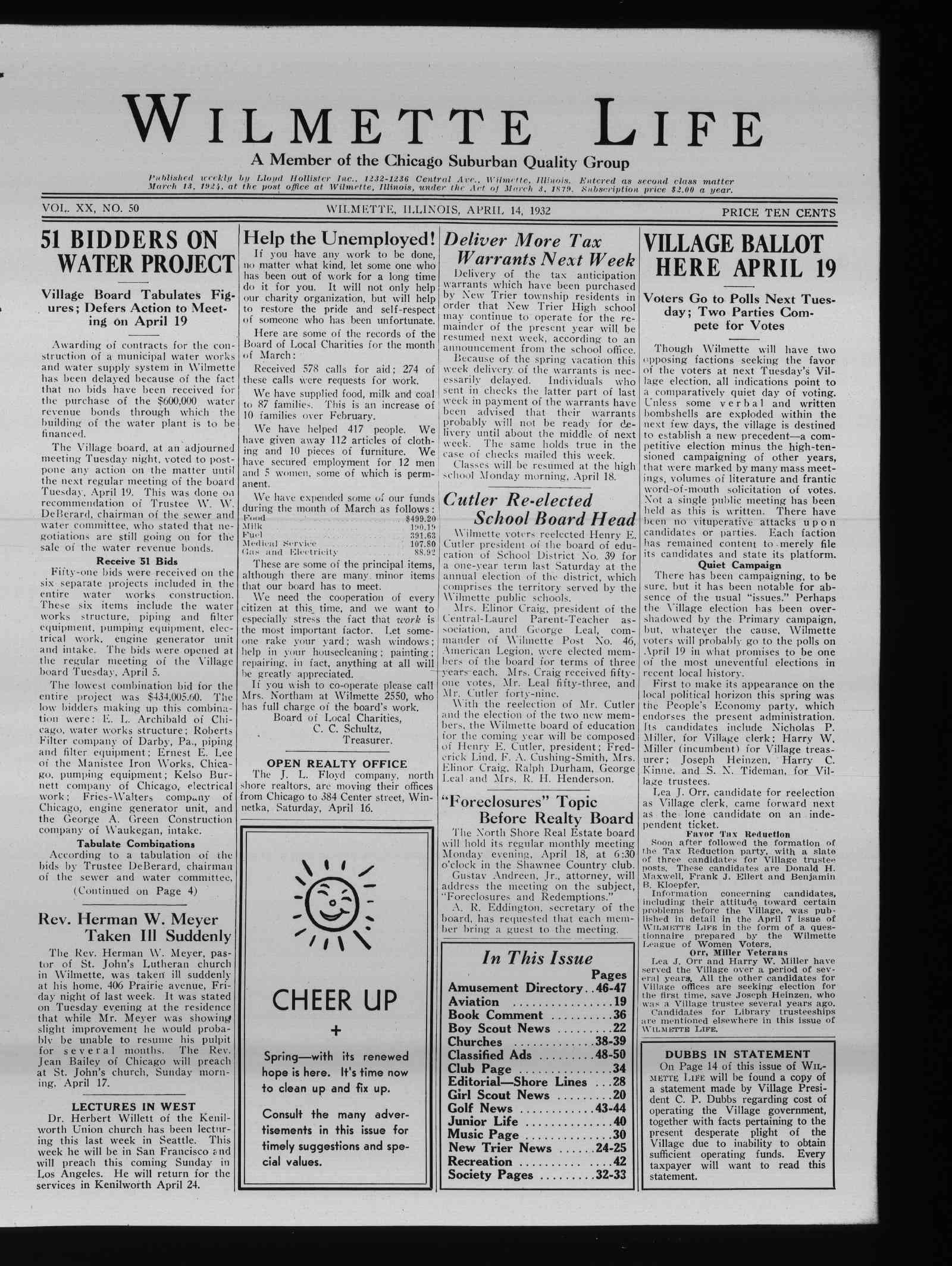 Wilmette Life (Wilmette, Illinois), 14 Apr 1932