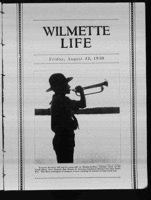 Wilmette Life (Wilmette, Illinois), 22 Aug 1930