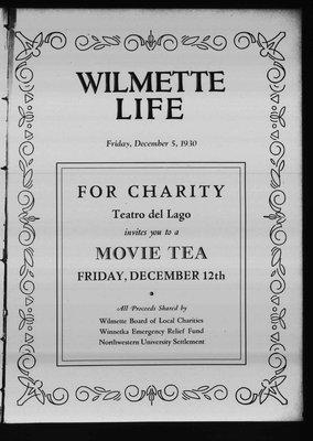 Wilmette Life (Wilmette, Illinois), 5 Dec 1930