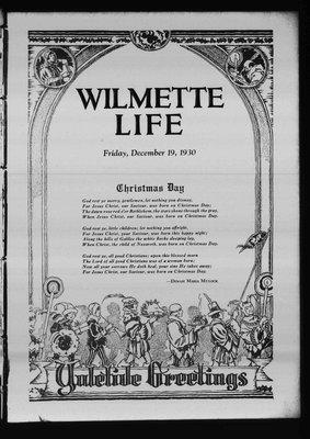 Wilmette Life (Wilmette, Illinois), 19 Dec 1930
