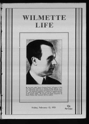 Wilmette Life (Wilmette, Illinois), 13 Feb 1931