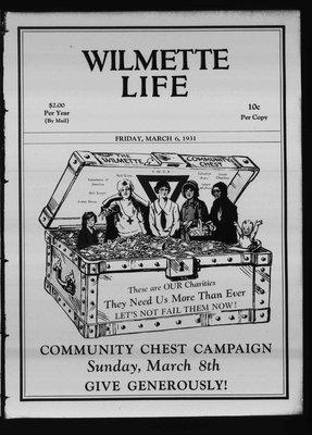 Wilmette Life (Wilmette, Illinois), 6 Mar 1931