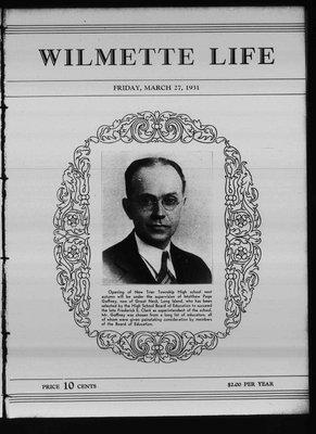 Wilmette Life (Wilmette, Illinois), 27 Mar 1931