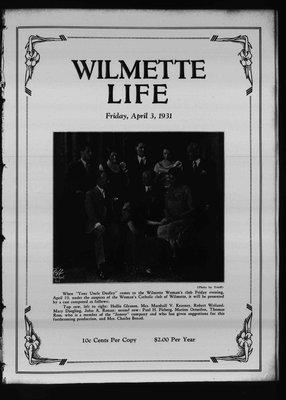 Wilmette Life (Wilmette, Illinois), 3 Apr 1931