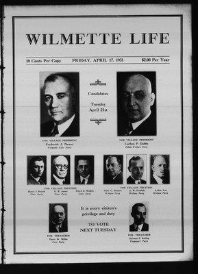 Wilmette Life (Wilmette, Illinois), 17 Apr 1931