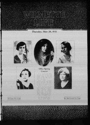 Wilmette Life (Wilmette, Illinois), 28 May 1931