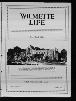 Wilmette Life (Wilmette, Illinois), 13 Aug 1931