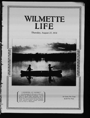 Wilmette Life (Wilmette, Illinois), 27 Aug 1931