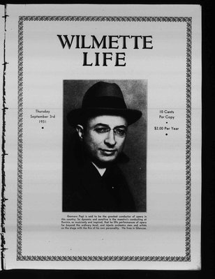 Wilmette Life (Wilmette, Illinois), 3 Sep 1931