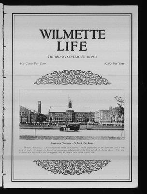Wilmette Life (Wilmette, Illinois), 10 Sep 1931