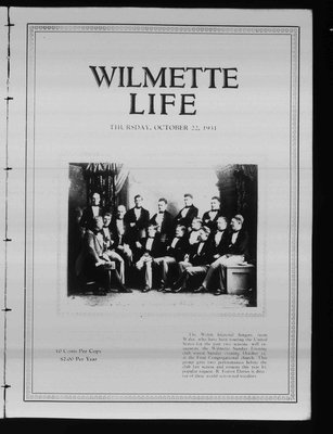 Wilmette Life (Wilmette, Illinois), 22 Oct 1931