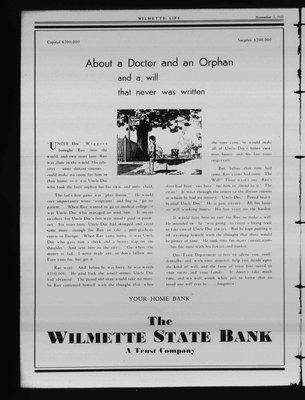 Wilmette Life (Wilmette, Illinois), 5 Nov 1931