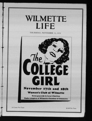Wilmette Life (Wilmette, Illinois), 12 Nov 1931