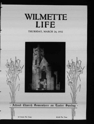 Wilmette Life (Wilmette, Illinois), 24 Mar 1932