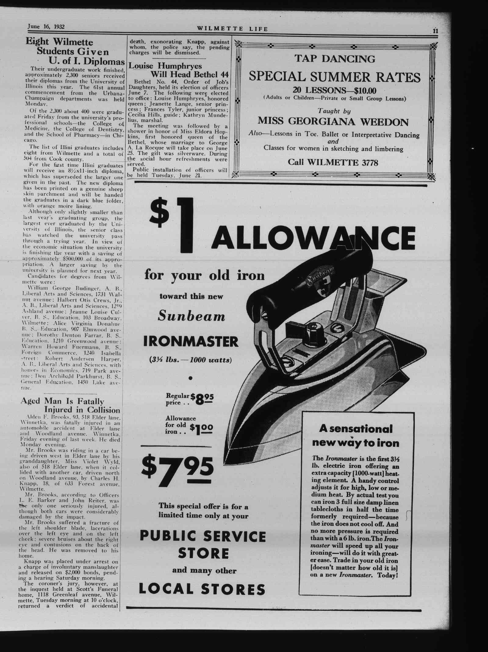 Wilmette Life (Wilmette, Illinois), 16 Jun 1932