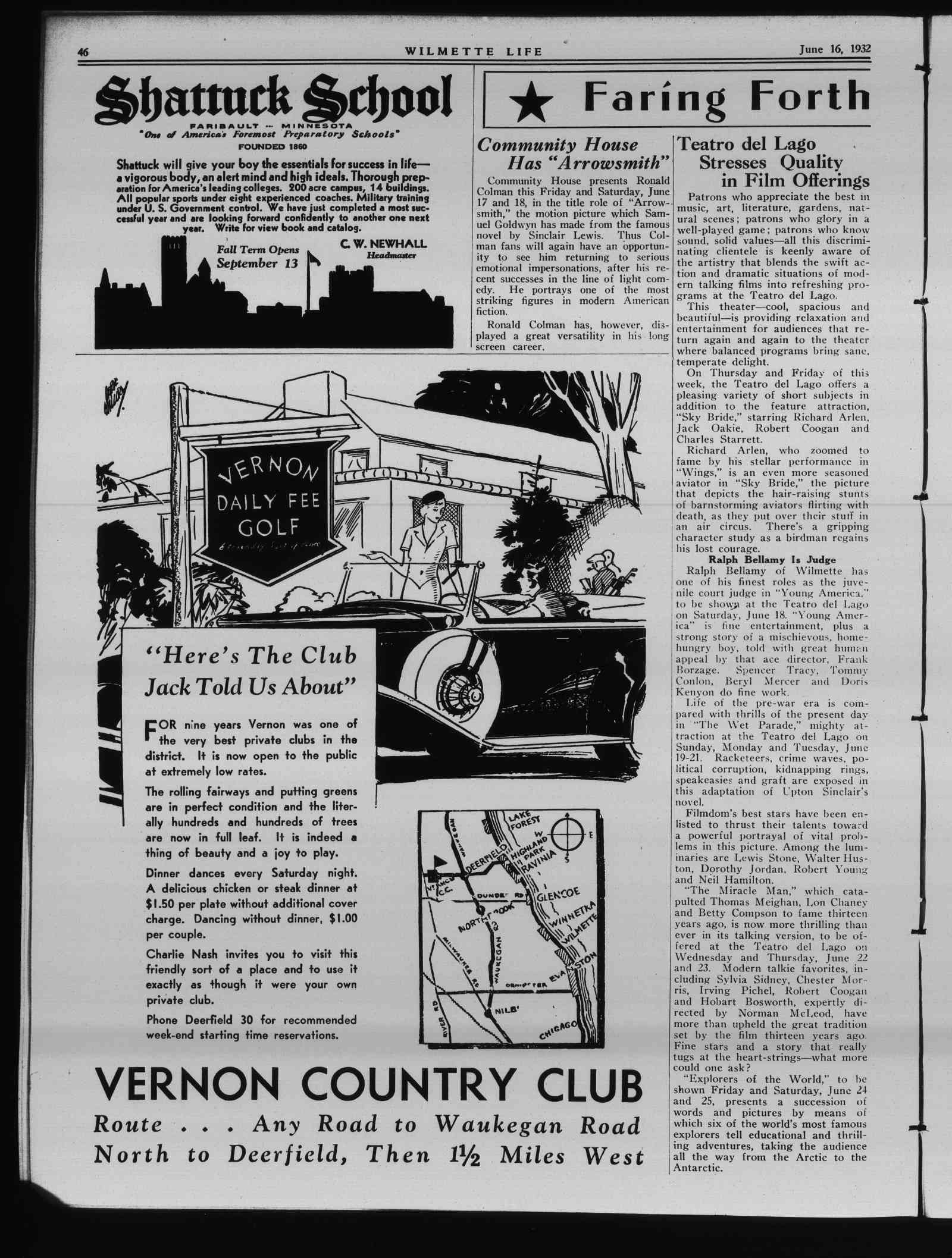 Wilmette Life (Wilmette, Illinois), 16 Jun 1932