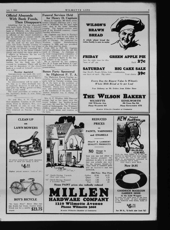 Wilmette Life (Wilmette, Illinois), 7 Jul 1932