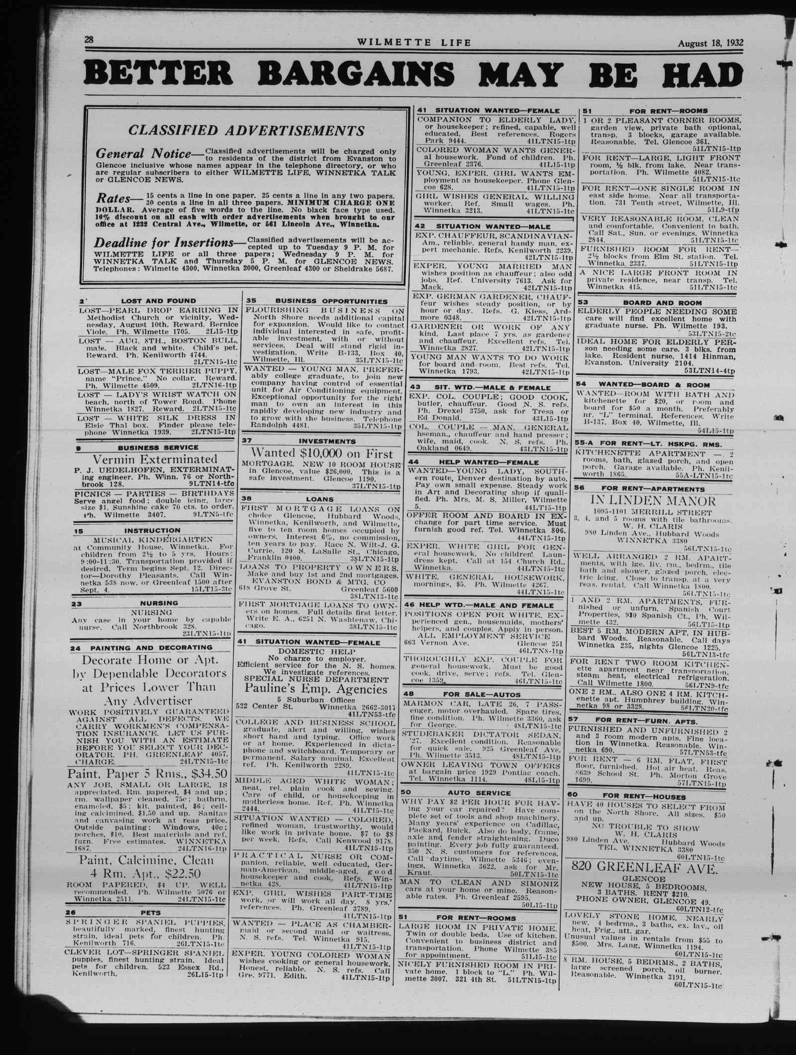 Wilmette Life (Wilmette, Illinois), 18 Aug 1932