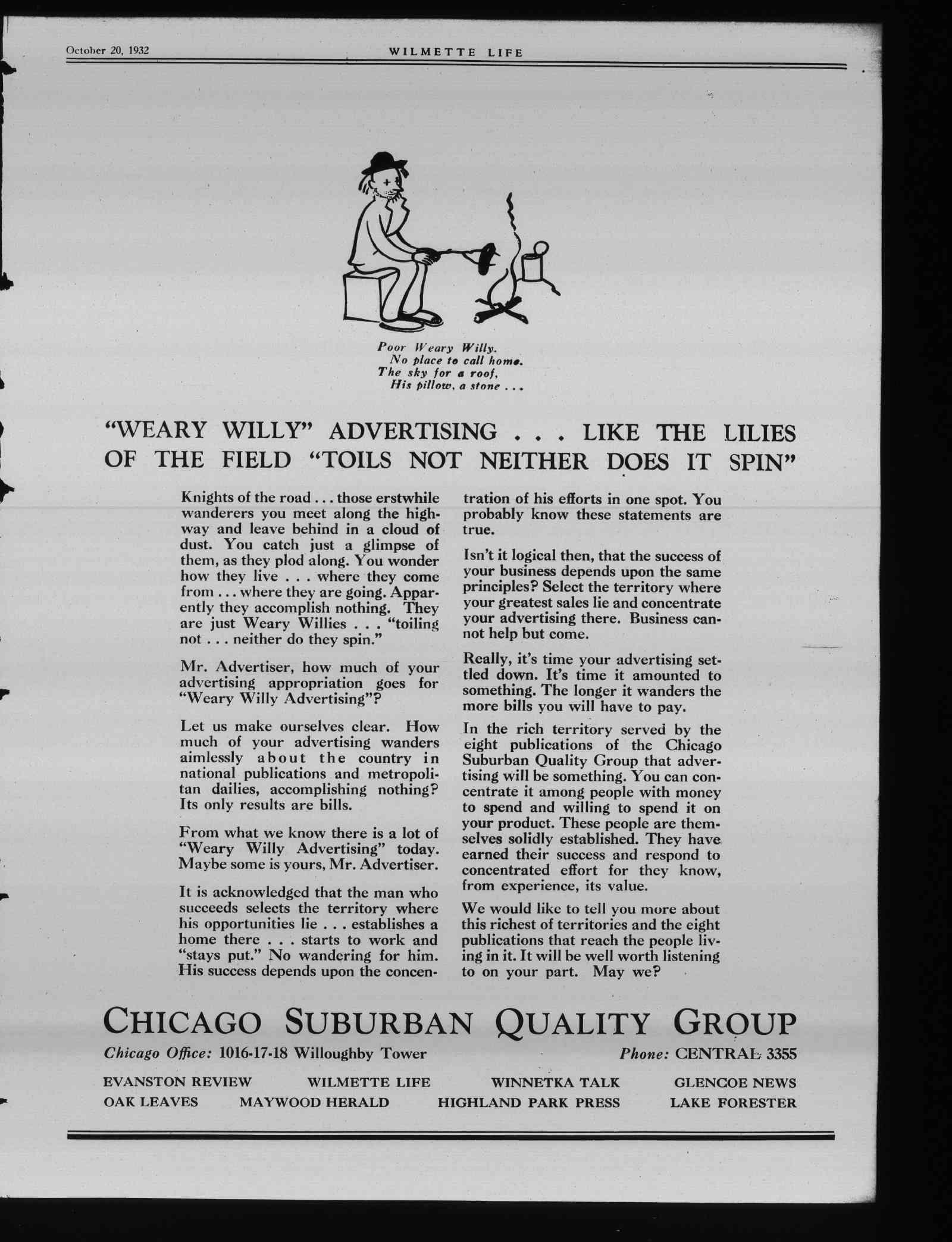 Wilmette Life (Wilmette, Illinois), 20 Oct 1932