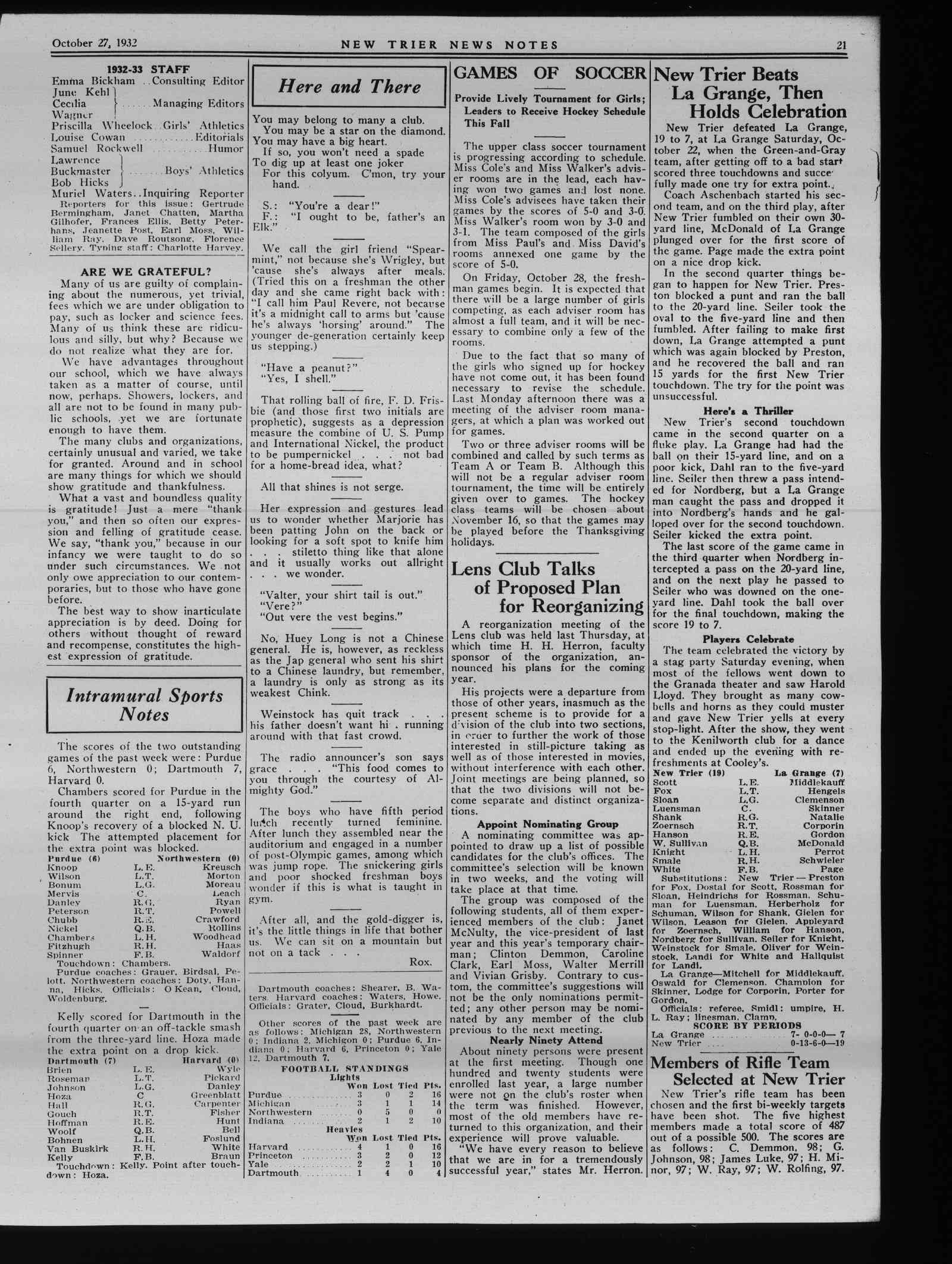 Wilmette Life (Wilmette, Illinois), 27 Oct 1932
