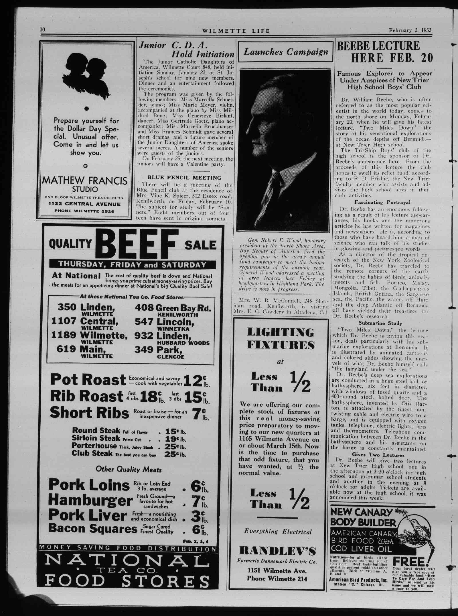 Wilmette Life (Wilmette, Illinois), 2 Feb 1933