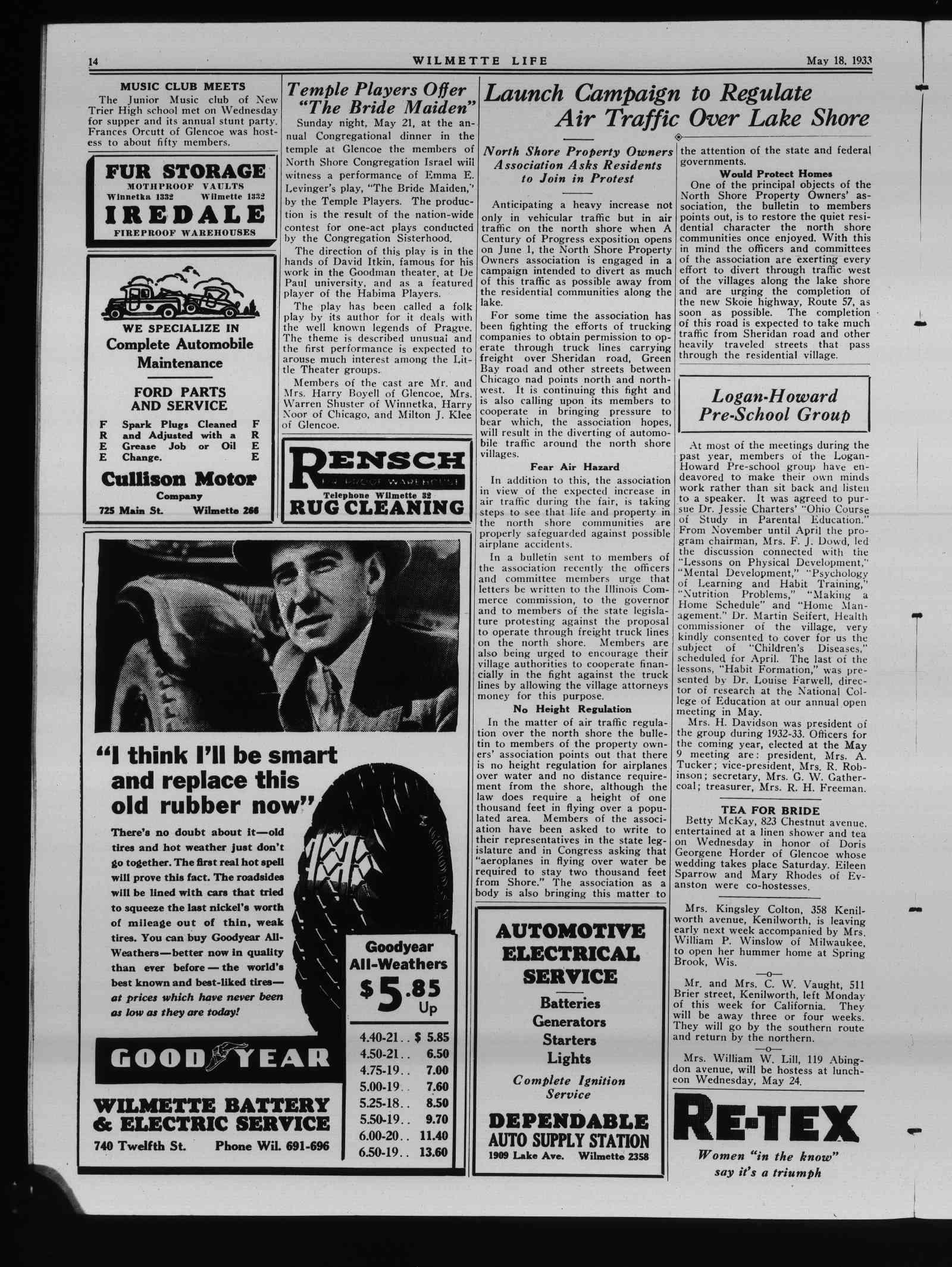 Wilmette Life (Wilmette, Illinois), 18 May 1933