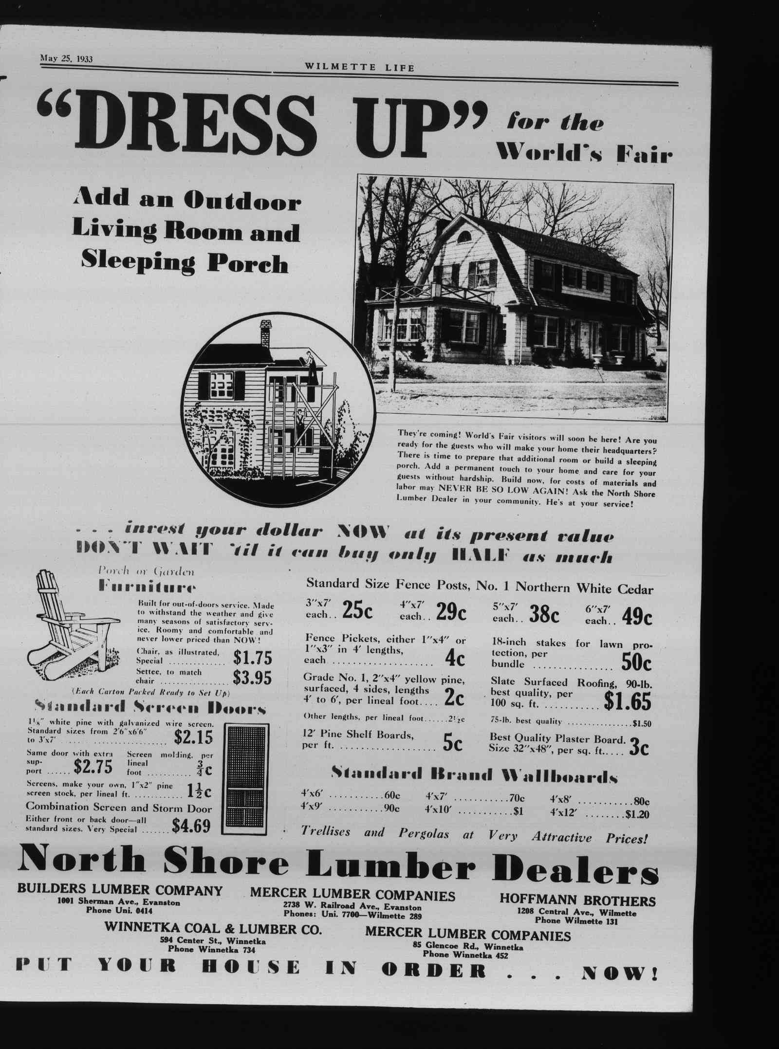 Wilmette Life (Wilmette, Illinois), 25 May 1933