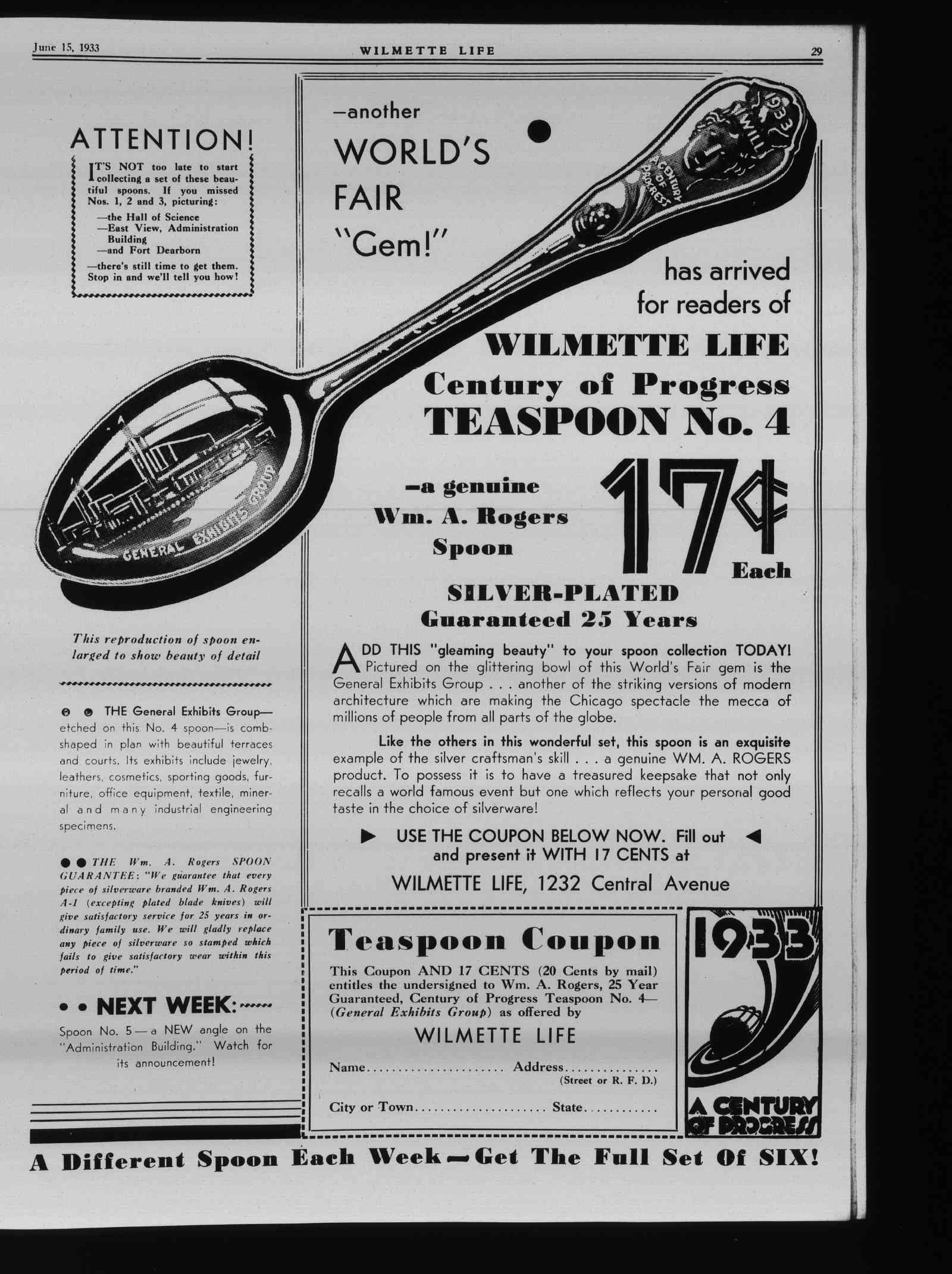 Wilmette Life (Wilmette, Illinois), 15 Jun 1933