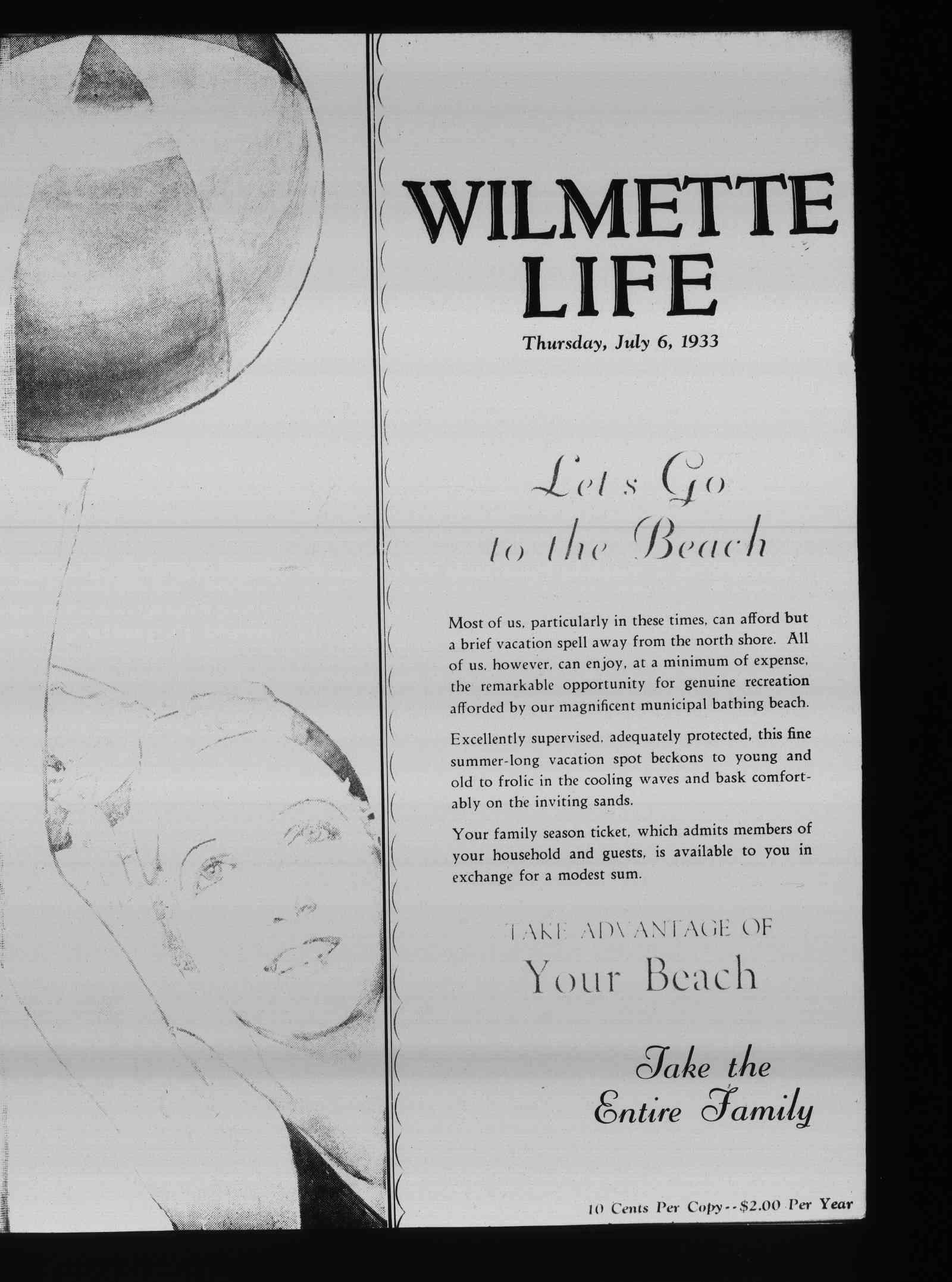 Wilmette Life (Wilmette, Illinois), 6 Jul 1933