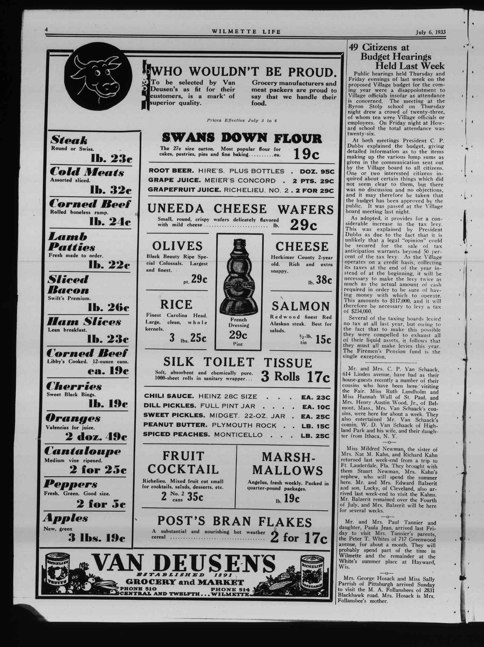 Wilmette Life (Wilmette, Illinois), 6 Jul 1933