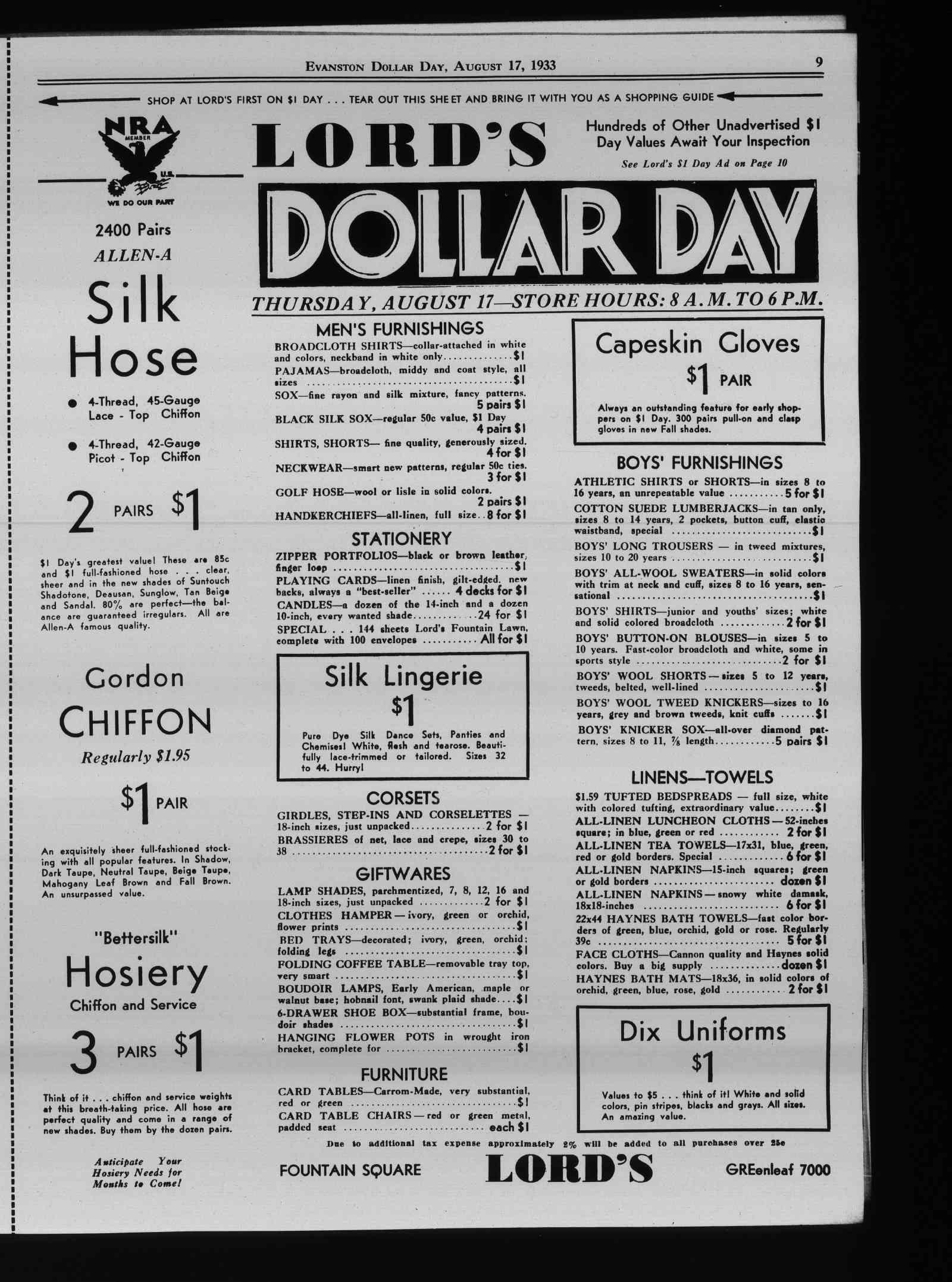 Wilmette Life (Wilmette, Illinois), 17 Aug 1933