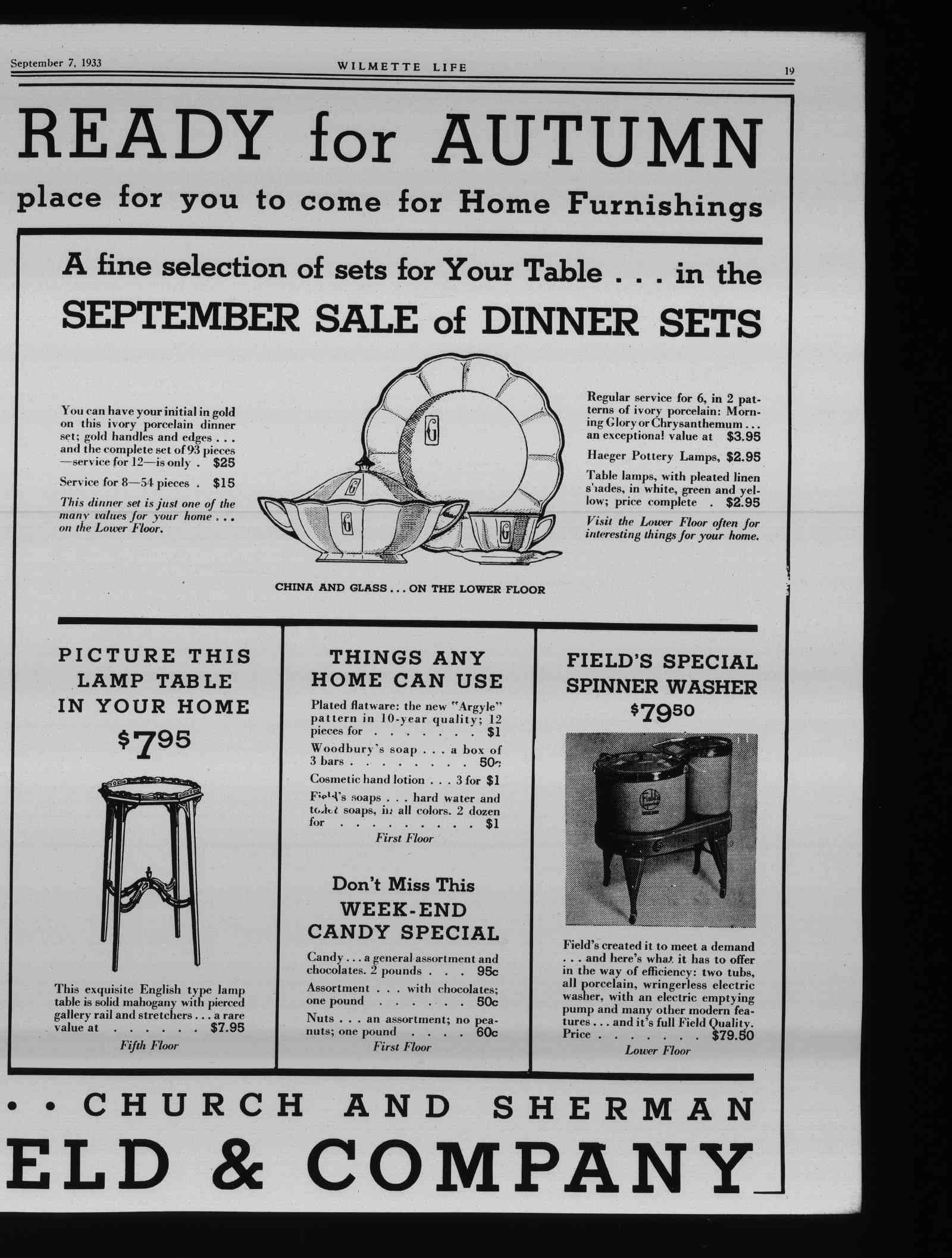 Wilmette Life (Wilmette, Illinois), 7 Sep 1933