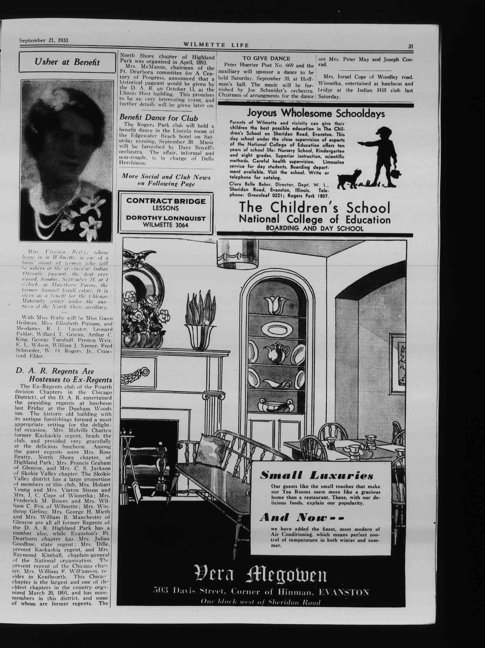 Wilmette Life (Wilmette, Illinois), 21 Sep 1933